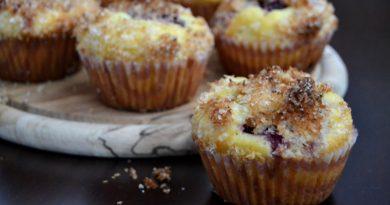 Kokosové muffiny s černicami