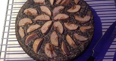 Maková torta s jablkami