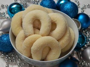 vanilkové rožky - vianočné koláčiky