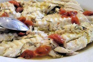 Rybie filé na paradajkách