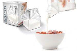 Mlieko v sklenenej škatuli