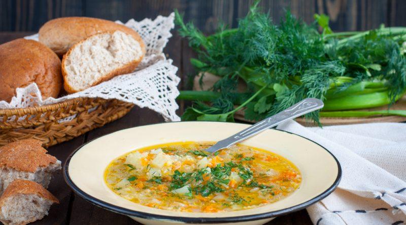 krúpová polievka so zeleninou