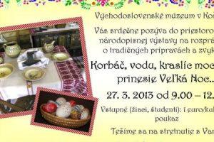 Tradičné prípravy a zvyky Veľkej noci vo Východoslovenskom múzeu v Košiciach