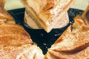 Torta s jablkami a tvarohom
