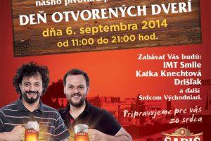Deň otvorených dverí v pivovare Šariš 2014