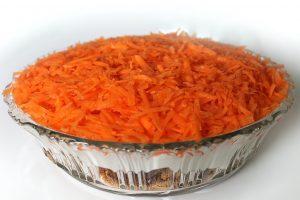 Slaný mrkvový koláčik s ovsenými vločkami