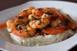 Obrie krevety s basmati ryžou