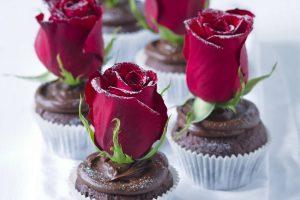 Valentínske čokomuffiny