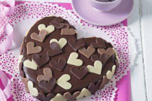 Valentínske marcipánové srdce