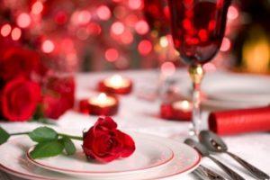 Romantické stolovanie na Valentína