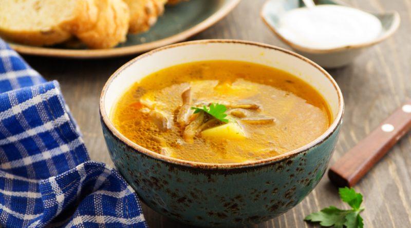 hlivová polievka