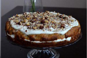 Petržlenový koláč s lieskovcami