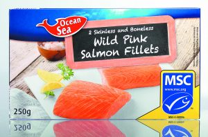 Ocean Sea Wild Pink Salmon Fillets