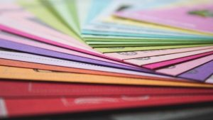 colorful-paper-on-table
