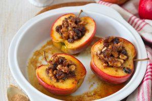Pečené jablká smascarpone a karamelovým cukrom