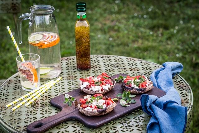 Grilovane sampinony s paradajkami - small