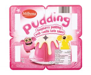 Milbona Raspberry pudding