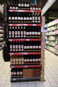 Ponuka vin kolekcie Slovenske Vinice v predajni Super U v Strasbourgu - small
