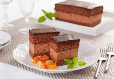 recept na koláč čokoládové kocky