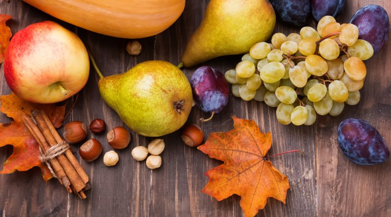 jesenné ovocie a zelenina