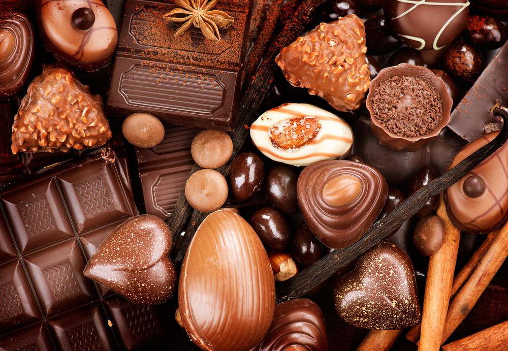 čokoláda a pralinky
