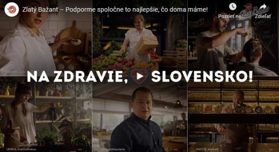 Nová kampaň značky Zlatý Bažant odkazuje: Podporujme slovenské výrobky