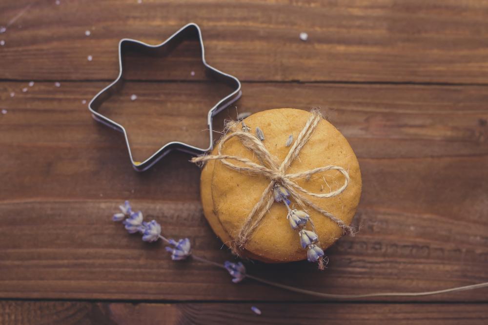levanduľové sušienky