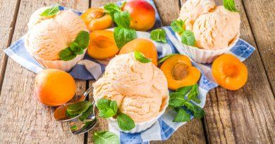 marhuľová zmrzlina