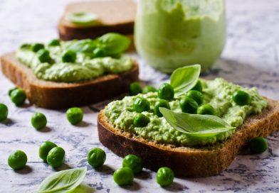 nátierka zo zeleného hrášku