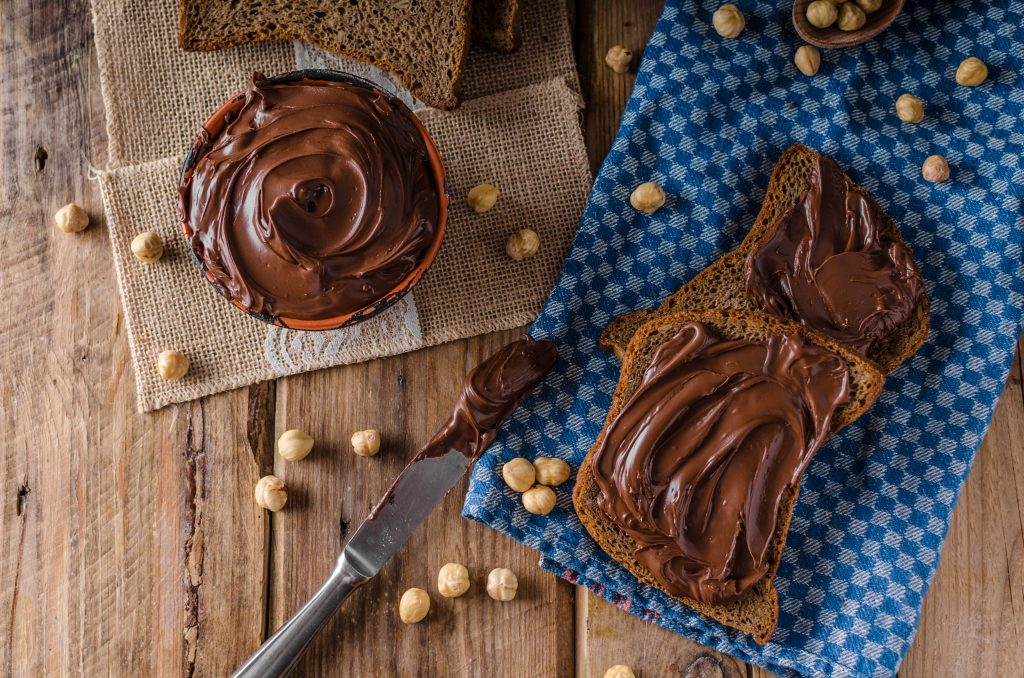orechy a domáca nutella
