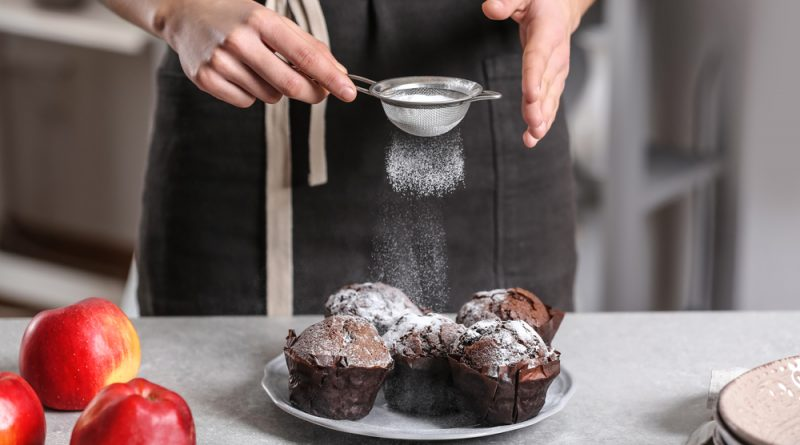 jablkovo čokoládové muffiny