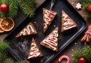 vianočné brownies stromčeky
