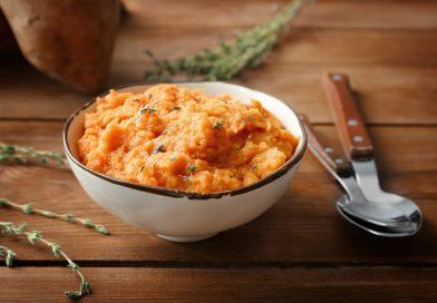batátovo-mrkvové pyré