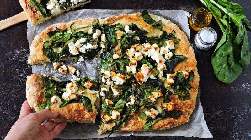 domáca pizza so špenátom