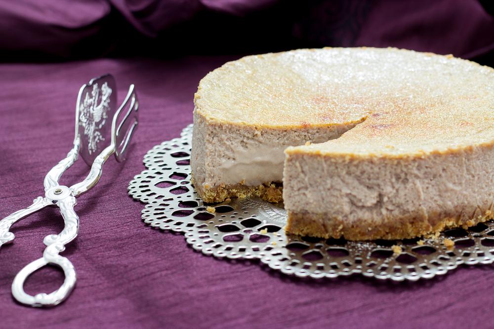 cheesecake s gaštanovým pyré