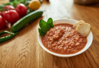 chlebová polievka s paradajkami