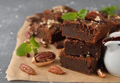 čokoládové brownies s pekanovými orieškami