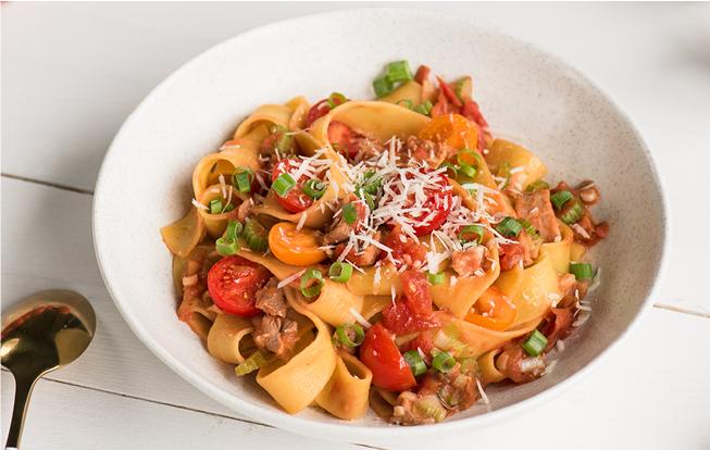 Lidl_Pappardelle s kačacím mäsom, paradajkami a parmezánom[1]